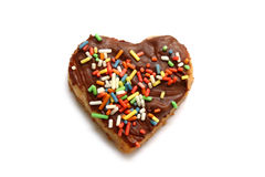 Heart shaped christmas cookie - isolated Stock Images