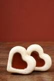 Heart-shaped christmas cookie Stock Photos