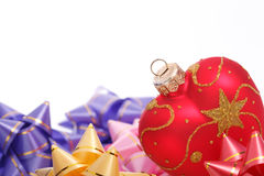 Heart shaped Christmas decoration Royalty Free Stock Image