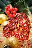 Heart shaped Christmas decoration Stock Photo