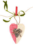 Heart Shaped Christmas Decoration Stock Photos