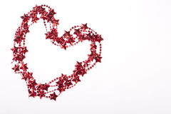 Heart shaped Christmas frame. Heart shaped Christmas empty frame Stock Images