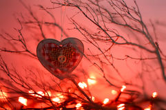 Heart shaped Christmas ornament Royalty Free Stock Photography