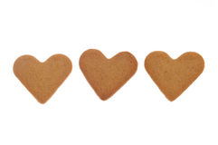 Heart shaped cinnamon cookies Stock Image