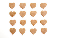 Heart-shaped cinnamon cookies i Stock Images