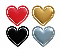 Heart shaped Clips isolated Royalty Free Stock Image