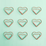 Heart shaped clips Stock Images