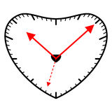 Heart shaped clock Royalty Free Stock Image