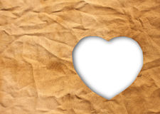 Heart-shaped cloth Royalty Free Stock Photography