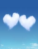 Heart Shaped Cloud. On Blue Sky Royalty Free Stock Photos