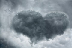 Heart-shaped cloud Royalty Free Stock Photo