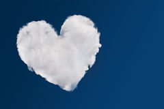Heart shaped cloud Stock Photos