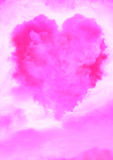 Heart shaped cloud Royalty Free Stock Photos