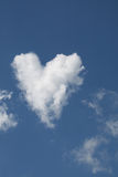 Heart Shaped Cloud. Symbol of Love stock photos