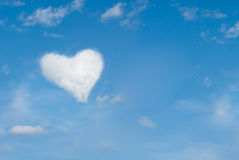 Heart shaped cloud Stock Image