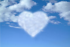 Heart-shaped cloud Stock Images