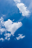 Heart-shaped cloud with blue sky Royalty Free Stock Image