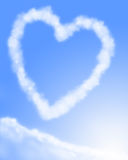 Heart shaped cloud formation vector illustration