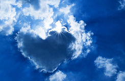 Heart shaped cloud Stock Images