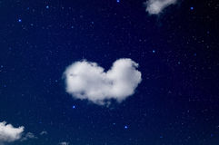 Heart shaped cloud. Stock Photography