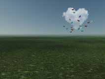 Heart shaped cloud Royalty Free Stock Image