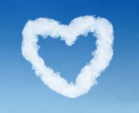 Heart shaped cloud trail Royalty Free Stock Photos