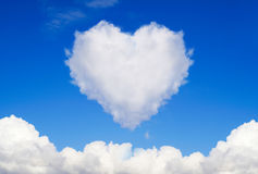 Heart shaped clouds Royalty Free Stock Images