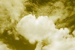 Heart shaped clouds in the sky, Valentine Background Yellow color themes sweet shaped clouds of Heart stock images