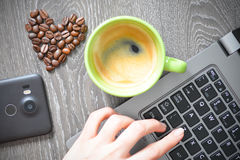 Free Heart Shaped Coffee Beans Suggesting Coffee Addiction Stock Images - 79108764