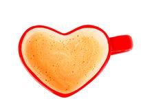 Heart shaped coffee mug Stock Images