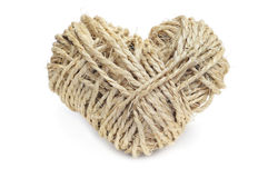 Heart-shaped coil of rope Royalty Free Stock Image