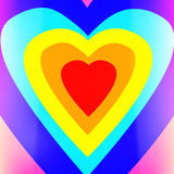 Heart shaped colorful background. Stock Photos