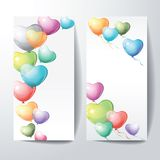 Heart shaped colorful balloons. Royalty Free Stock Photos