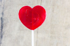 Heart shaped colorful lollipop Stock Photography