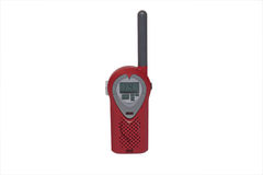 Heart shaped communicater. Love heart shaped 2 way radio,with clipping path royalty free stock image