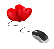 Heart Shaped and Computer Mouse Stock Photography