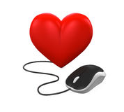 Heart Shaped and Computer Mouse Stock Images