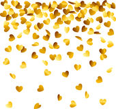Heart shaped confetti Royalty Free Stock Image