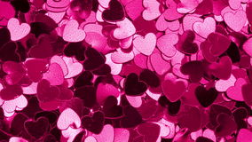 Heart shaped confetti stock video