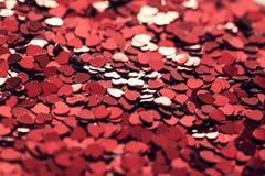 Heart Shaped Confetti Royalty Free Stock Photos