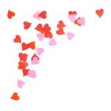 Heart shaped confetti composition Stock Image
