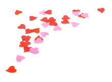 Heart shaped confetti composition Stock Images