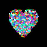 Heart shaped confetti falling down Royalty Free Stock Photography