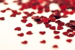 Heart Shaped Confetti Stock Photos