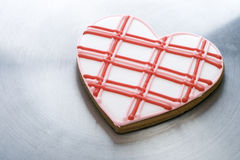 Heart-Shaped Cookie Stock Photography