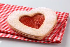 Heart shaped  cookie Royalty Free Stock Photos