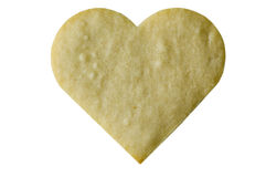 Heart Shaped Cookie. A heart shaped cookie, isolated Stock Photo