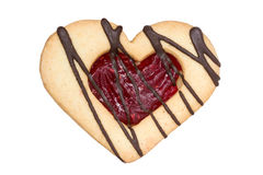 Heart shaped  cookie Royalty Free Stock Photography