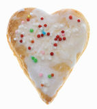 Heart-Shaped Cookie. Heart shaped cookie isolated against a white background Stock Photos