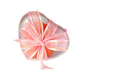 Heart shaped cookie box tied with a ribbon Stock Photography
